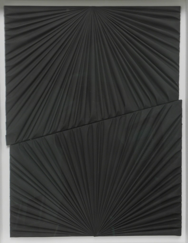 Kess InHouse Suzanne Carter Hearts Black White Luxe Rectangle Panel 24 x 36