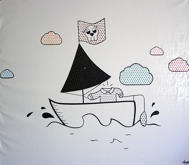 """Skoya Assemat-Tessandier, '""""I need the sea because it teaches me"""", No Hope for us Dreamers? #L', 2013, The Switch"""