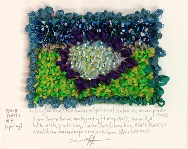 , 'Beach Plastic # 7: Filling the Void: Blue Border with Opalescent Center,' 2017, Paraphé