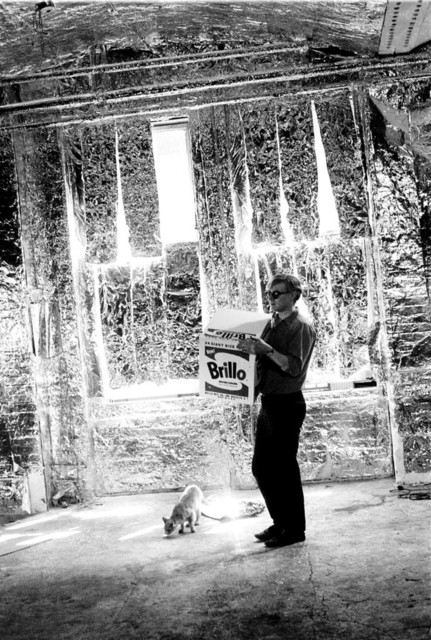 , 'Andy Warhol carries Brillo Box Sculpture with Ruby the cat,' 1964, Milk Gallery