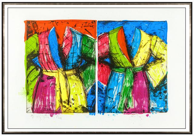 Jim Dine, 'Jim Dine Original Etching Lithograph Florida Bathrobes Robe Large Signed Artwork', 1986, Print, Lithographic Etching, Original Art Broker