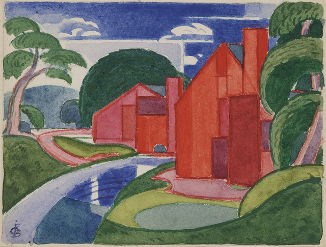"Oscar Bluemner, 'Tars, Azlo ""Flach"" Soho Fat Mill', 1920, Debra Force Fine Art"