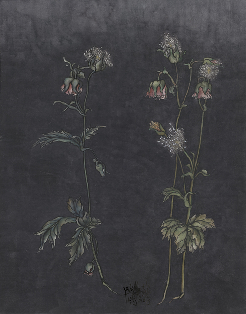 Yang Jiechang 杨诘苍, 'These are still Flowers 1913-2013 No. 2 还是花鸟画1913-2013 2号', 2013, Painting, Ink and mineral pigments on silk, mounted on canvas 墨、矿物彩,绢本(裱于布面), Ink Studio