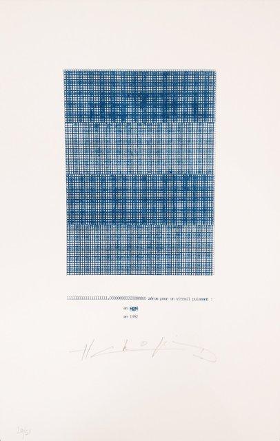 , 'Zéros pour un vitrail puissant,' 1992, Richard Saltoun