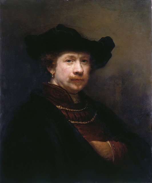 , 'Self-portrait in a Flat Cap,' 1642, Royal Collection Trust