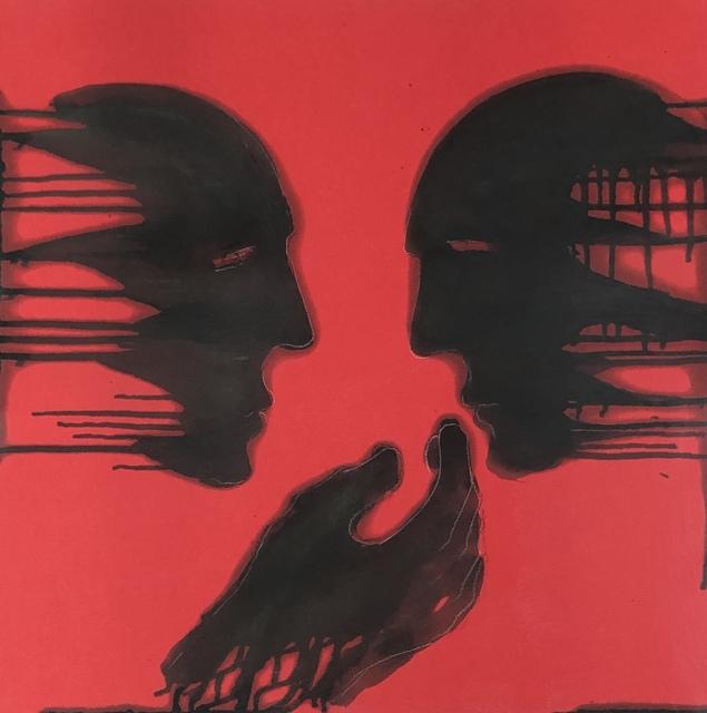 Mahi Binebine, 'Untitled', 2020, Painting, Mixed media, Katharina Maria Raab