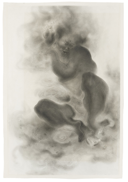 Stanton MacDonald-Wright, 'Japanese Genie', 1933, Drawing, Collage or other Work on Paper, Pencil on Strathmore paper under Plexiglas, John Moran Auctioneers