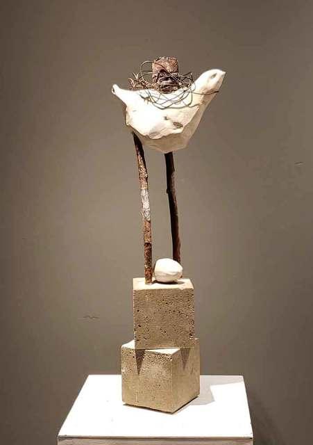 , ' Individual carrying the burden of his past (Individu transportant le fardeau de son passé),' 2019, Galerie Blanche