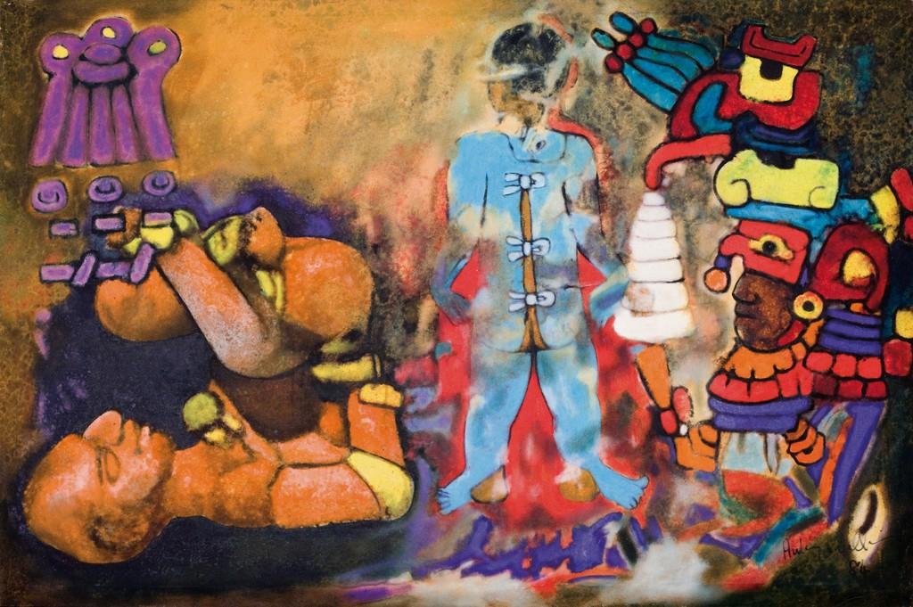 Maya Ritual V,(Olmec Maya series)