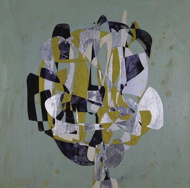 Jim Napierala, 'Black Dutch', 2015, Painting, Flashe, aluminum leaf and acrylic on wood panel, Susan Eley Fine Art