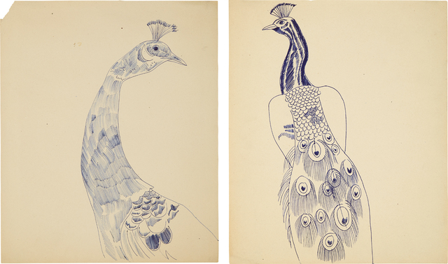 Andy Warhol, 'Two works: (i) Peacock; (ii) Peacock', 1957, Phillips