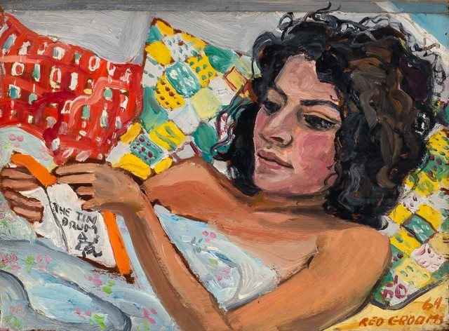 Red Grooms, 'The Tin Drum (Woman Reading)', 1964, Painting, Oil on board, Doyle