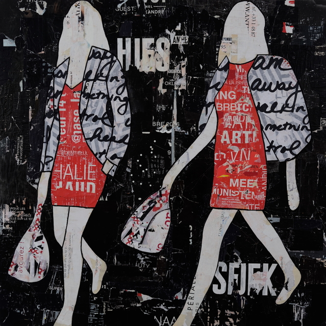 , 'Black and Red Walking Girls,' , Joanne Artman Gallery