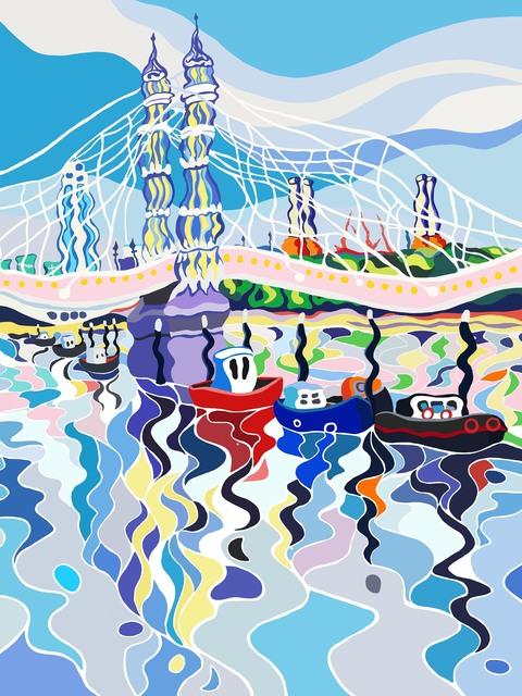 Sarah Fosse, 'Albert Bridge Reflections - Mini', 2018, M1 Fine Art
