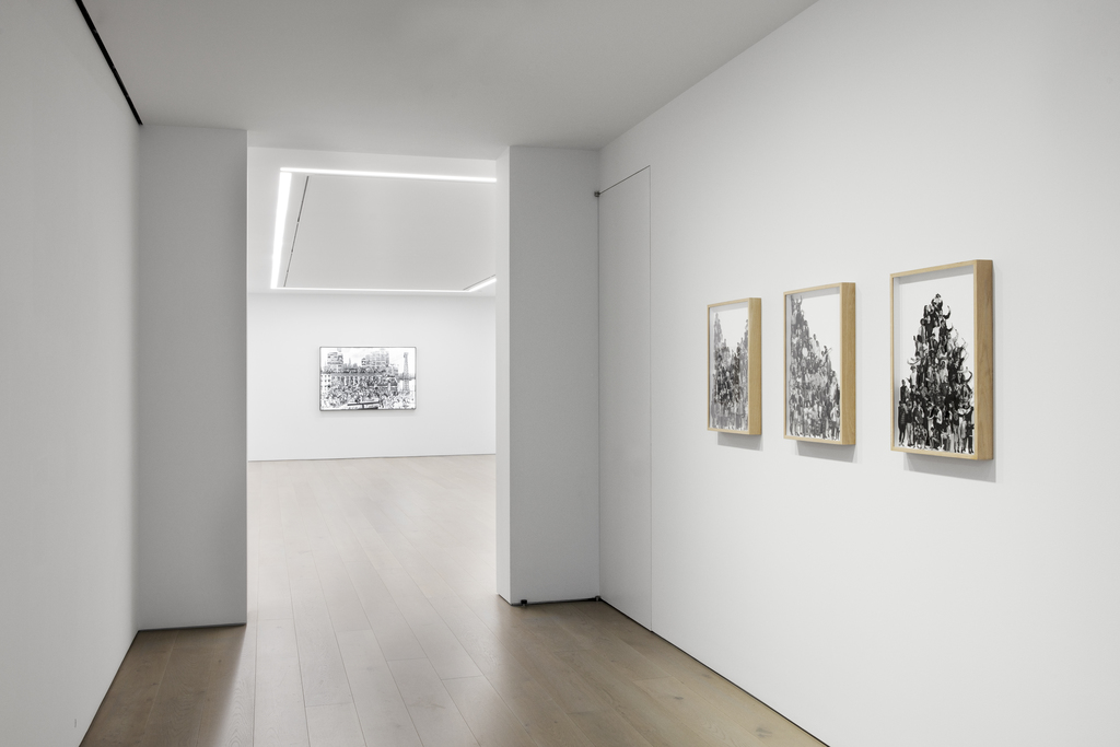"""Installation view of JR: """"The Chronicles of New York City – Sketches"""", 2019, Perrotin New York. Photograph: Guillaume Ziccarelli. Courtesy of the artist and Perrotin. © JR-ART.NET"""