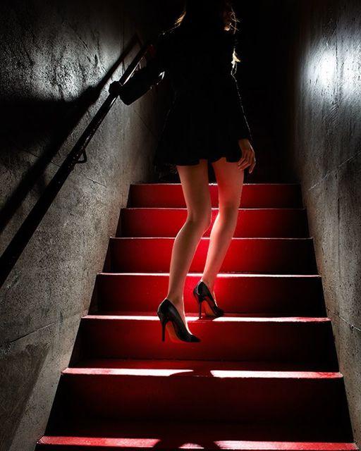 David Drebin, 'Girl on the Red Steps', 2012, Galerie de Bellefeuille