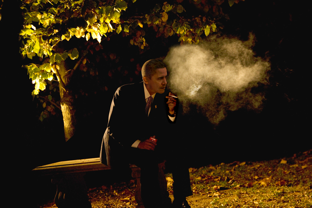 , 'Obama Smoking,' 2015, HG Contemporary