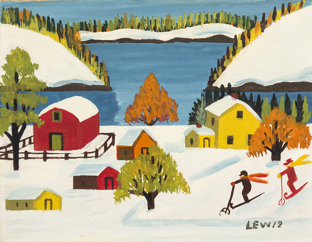 Maud Lewis, 'Two Skiers', Mid-20th Century, Oeno Gallery