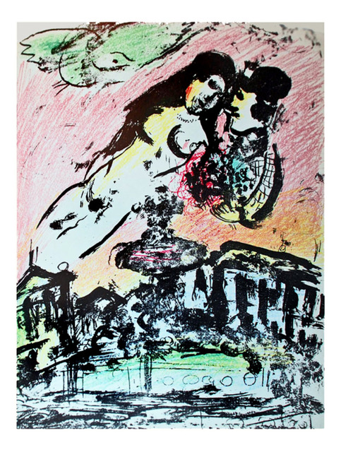 Marc Chagall, 'Lovers' Heaven', 1963, Print, Lithograph printed in colors on wove paper., Galerie d'Orsay