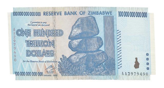 , 'Z$100-Trillion,' 2017, WHATIFTHEWORLD