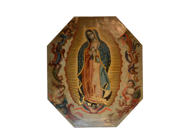 , 'Virgen de Guadalupe,' Siglo XVIII, Mario Uvence