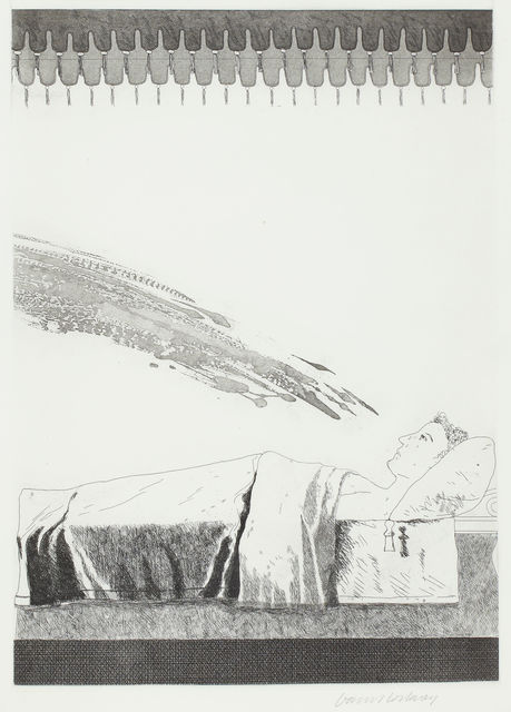 David Hockney, 'Cold Water About to Hit the Prince', 1969, TAI Modern
