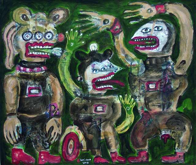 , 'Black Magic Discussion,' 2016, Mizuma Art Gallery