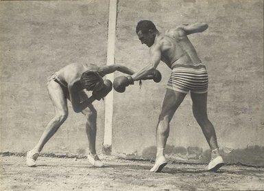 Jacques Henri Lartigue, 'Moi et Sala, boxe, Rouzat ', 1922, Photography, Silver gelatin print, °CLAIRbyKahn Galerie