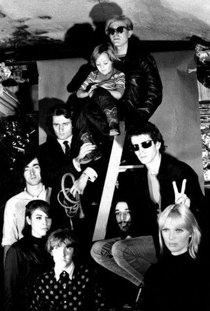 , 'Andy Warhol, Nico's son Ari, Lou Reed, Nico, John Cale, Maureen Tucker, Mary Woronov, Sterling Morrison, and Gerard Malanga,' 1966, Milk Gallery