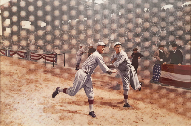, 'Babe Ruth Warming Up to Pitch for the Red Sox at the 1918 World Series,' 2016, Madelyn Jordon Fine Art