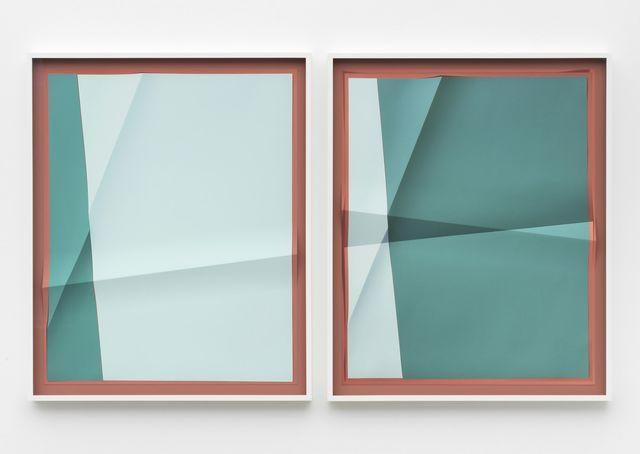 , 'Accumulator #10, 3 Colors #B2837A, #C4DCE0, #419D9C,' 2017, Marianne Boesky Gallery