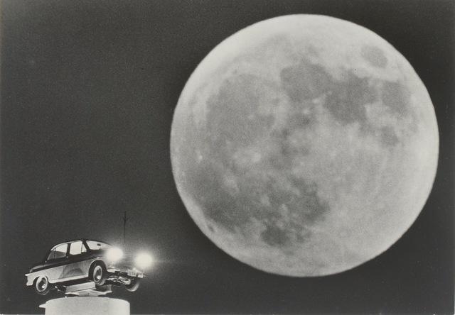 , 'Full Moon with Car Advertisement,' 1958, MEM
