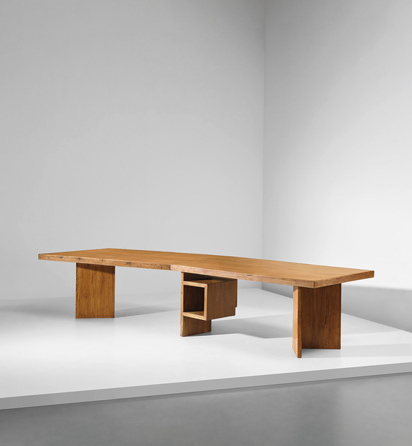Le Corbusier, 'Important and rare demountable Minister's desk, model no. LC-TAT-07-A, designed for the High Court and the Secrétariat, Chandigarh', 1955-1959, Design/Decorative Art, Teak-veneered wood, teak., Phillips