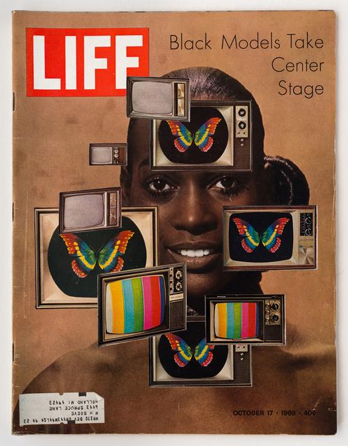 , 'LIFE  Cutout  No.  046  (October  17,  1969,  Black  Models  TV),' 2018, Luis De Jesus Los Angeles