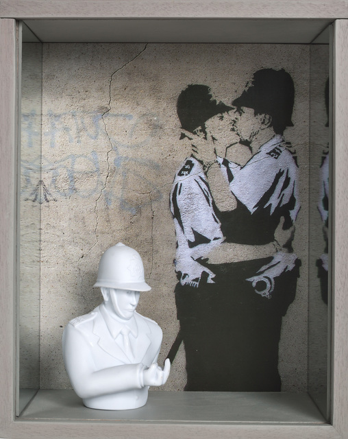 , 'Banksy-Police,' 2016, Beatriz Esguerra Art