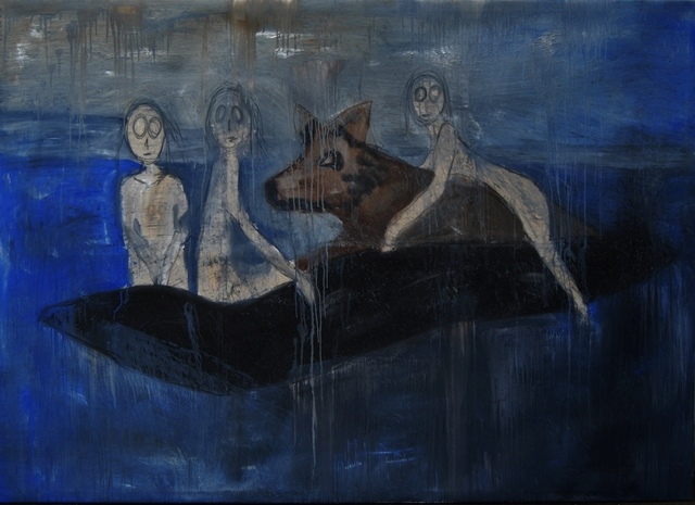 , 'Wolf Riders On Boat,' , Bill Lowe Gallery