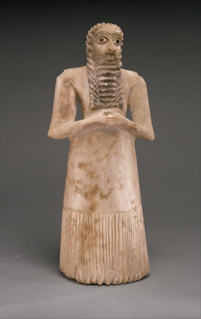 Unknown Sumerian, 'Standing male worshiper', ca. 2900–2600 B.C., The Metropolitan Museum of Art