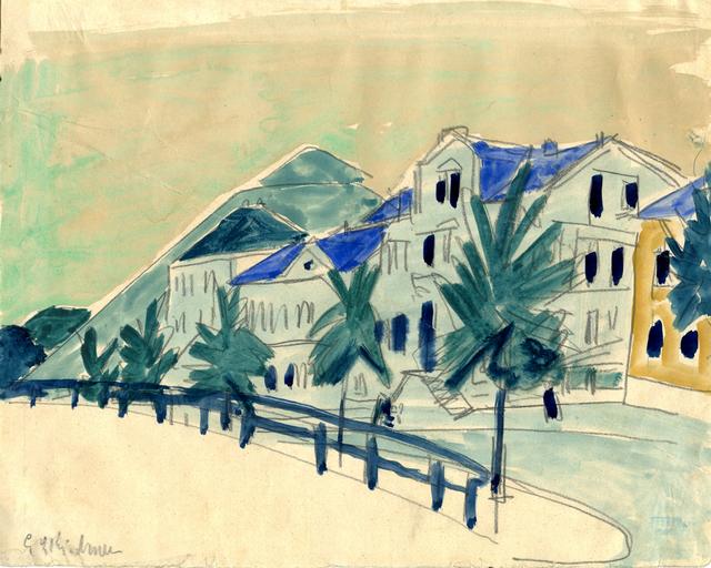 , 'Häuser mit Allee,' 1910, Henze & Ketterer
