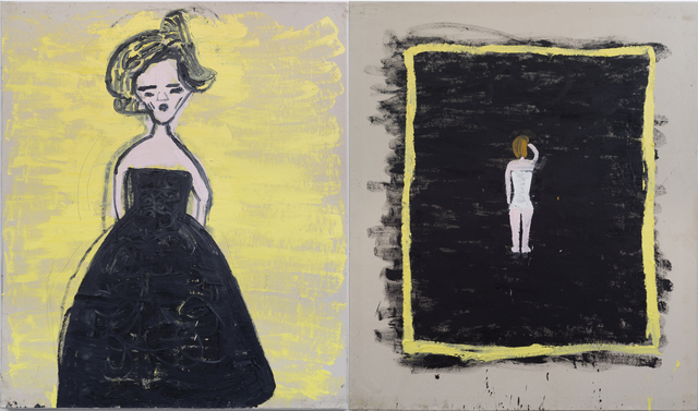 Rose Wylie, 'Black Frock, The Modest Corset (Malevitch)', 2019, CHOI&LAGER