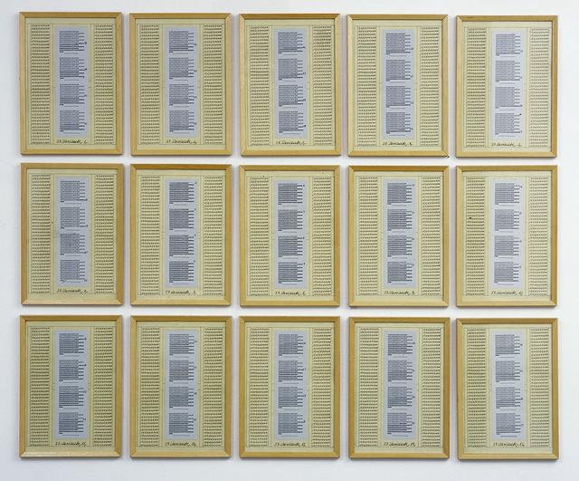 , '10. Variante,' 1975, Helga Maria Klosterfelde Edition