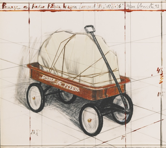 Christo and Jeanne-Claude, 'Package on Radio Flyer Wagon, Project, 1993', 1993, Galerie Ostendorff