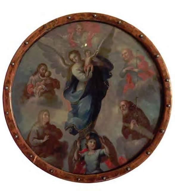 , 'Virgen del apocalipsis (escudo de monja),' Siglo XVIII, Mario Uvence