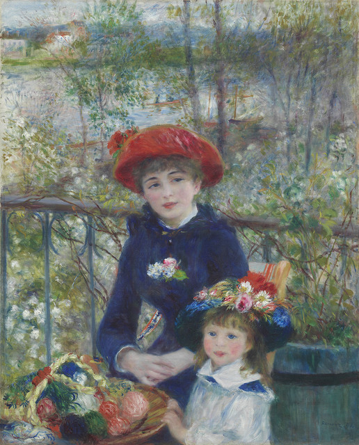 , 'Two Sisters (On the Terrace),' 1881, The National Gallery, London