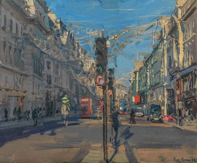 , 'Christmas Lights on Regent St, Winter Sun,' , Mall Galleries