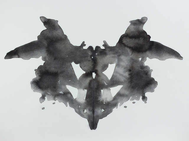 , '08 November 1884 - Hermann Rorschach was born, best known for developing a projective test known as the Rorschach inkblot test (aus der Serie / from the series 365),' 2013, Christine König Galerie