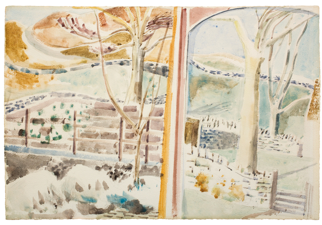 , 'The Landscape Through the Window and Through the Looking Glass,' 1945, Piano Nobile