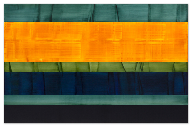 , 'Composition in Greens 14,' 2014, Sundaram Tagore Gallery