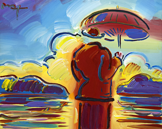 , 'Umbrella Man at Sea,' , Baterbys Art Gallery