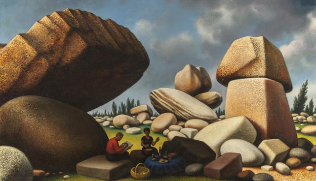 , 'Study for Boulders of Avila,' 1975, ACA Galleries