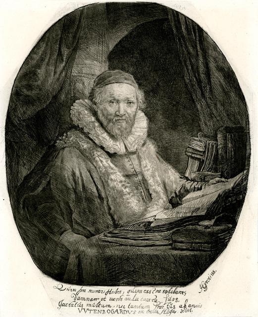 Rembrandt van Rijn, 'Jan Uytenboagert, Preacher of the Remonstrants', 1635, Christopher-Clark Fine Art